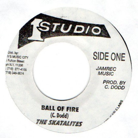 "(7"") THE SKATALITES - BALL OF FIRE / THE TONNETS - EVERY TIME"