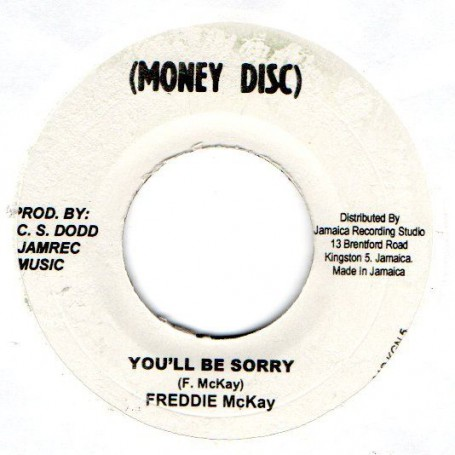 "(7"") FREDDIE McKAY - YOU'LL BE SORRY / VERSION"