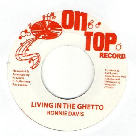 """(7"""") RONNIE DAVIS - LIVING IN THE GHETTO / PARADISE DUB"""