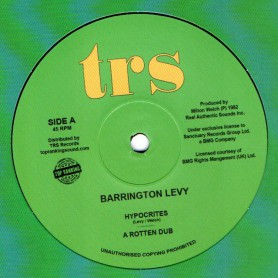 "(12"") BARRINGTON LEVY - HYPOCRITES / OH JAH, CAN'T YOU SEE"