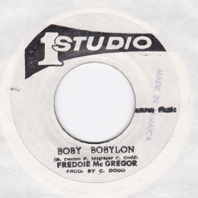 "(7"") FREDDIE McGREGOR - BOBY BOBYLON / FREDDIE & SOUND DIMENSION - BOBY BOBYLON Pt. 2"