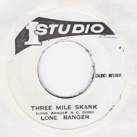 "(7"") LONE RANGER - THREE MILE SKANK / SOUND DIMENSION - THREE MILE (VERSION)"