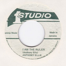 "(7"") ANTHONY ELLIS - I AM THE RULER / SOUND DIMENSION - RULER VERSION"