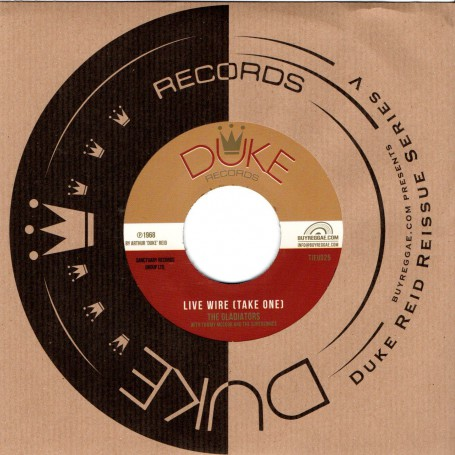 """(7"""") THE GLADIATORS - LIVE WIRE (TAKE ONE) / JUSTON HINDS WITH TOMMY McCOOK & THE SUPERSONICS - RUB UP PUSH UP"""