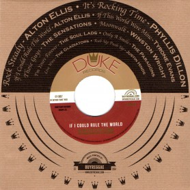 "(7"") ALTON ELLIS & THE FLAMES - IF I COULD RULE THE WORLD / TYRONE EVANS - IF THIS WORLD WERE MINE"