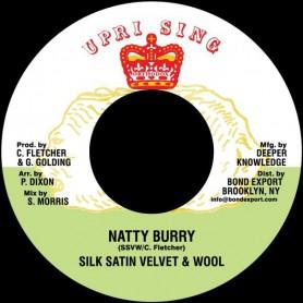 "(7"") SILK SATIN VELVET & WOOL (Carl Fletcher) - NATTY BURRY / ADVOCATES AGGREGATION - SATAN PICKNEY"