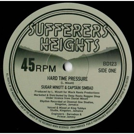 "(12"") SUGAR MINOTT & CAPTAIN SIMBAD - HARD TIME PRESSURE / BARNABUS, SUGAR & THE YOUTH PROMOTION BAND - DUB ON THE PRESSURE"