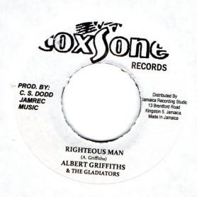 "(7"") ALBERT GRIFFITHS & THE GLADIATORS - RIGHTEOUS MAN / RIGHTEOUS DUB"