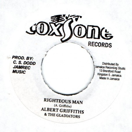 """(7"""") ALBERT GRIFFITHS & THE GLADIATORS - RIGHTEOUS MAN / RIGHTEOUS DUB"""