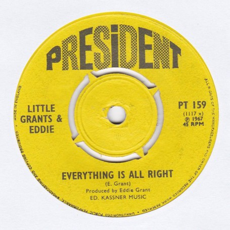 """(7"""") LITTLE GRANTS & EDDIE - RUDY'S DEAD / EVERYTHING IS ALL RIGHT"""