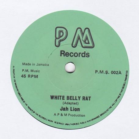 """(7"""") JAH LION - WHITE BELLY RAT / BLACK ART - VAMPIRE"""