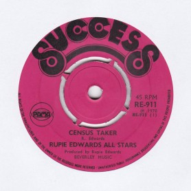 "(7"") RUPIE EDWARDS ALL STARS - CENSUS TAKER / SOULING WAY OUT"