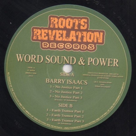 """(12"""") BARRY ISAACS - NO JUSTICE / EARTH TREMOR"""