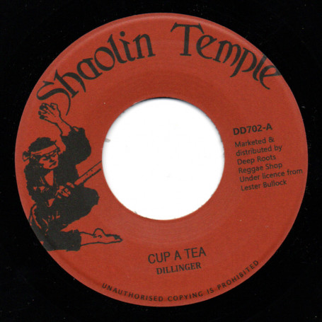 """(7"""") DILLINGER - CUP A TEA / CUP AND SAUCER"""