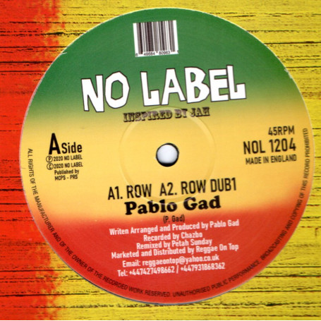 "(12"") PABLO GAD - ROW / ROW DUB"