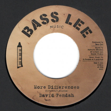 """(7"""") DAVID FENDAH - MORE DIFFERENCES / BLM PLAYERS - DUB WISE"""