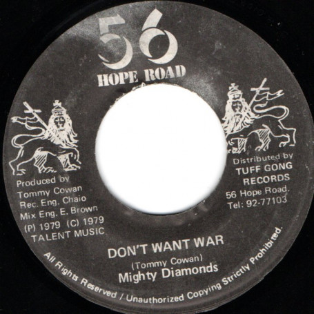 """(7"""") MIGHTY DIAMONDS - DON'T WANT WAR / VERSION"""