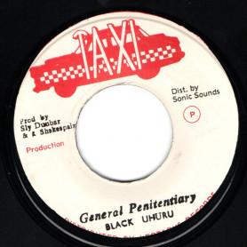 """(7"""") BLACK UHURU - GENERAL PENITENTIARY / VERSION"""