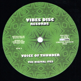 """(12"""") THE DIGITAL ITES - VOICE OF THUNDER / JAH VICTORY"""