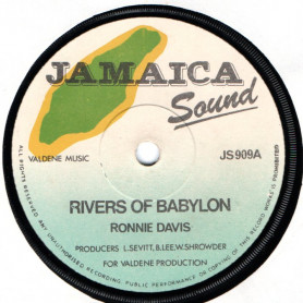 "(7"") RONNIE DAVIS - RIVERS OF BABYLON / DILLINGER - CRUCIAL IN A BABYLON"