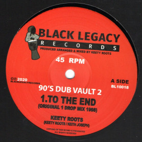 """(10"""") KEETY ROOTS - TO THE END / DUB OVER EVIL"""