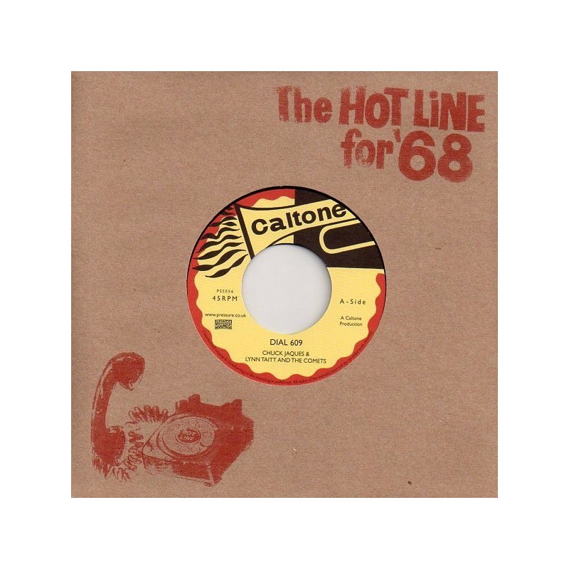 """(7"""") CHUCK JAQUES & LYNN TAITT AND THE COMETS - DIAL 609 / LYN TAITT & THE JETS - THE BRUSH"""