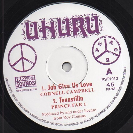 "(10"") CORNELL CAMPBELL - JAH GIVE US LOVE / CHARLIE CHAPLIN - AIR IS POLLUTED"