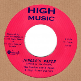 "(7"") VIN GORDON MEETS FAZAL & HIGH TIMES PLAYERS - JUNGLE'S MARCH / JUNGLE'S DUB"