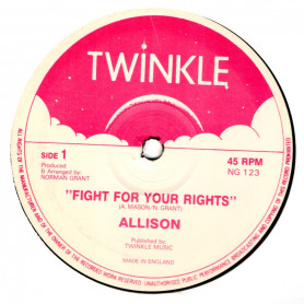 """(12"""") ALLISON - FIGHT FOR YOUR RIGHTS / RASS BRASS & TWINKLE RIDDIM SECTION - FIGHT THE FIGHT"""