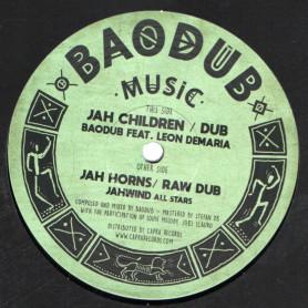 "(12"") BAODUB FEAT LEON DEMARIA - JAH CHILDREN / JAHWIND - JAH HORNS"