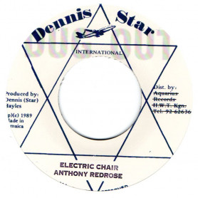 """(7"""") ANTHONY RED ROSE - ELECTRIC CHAIR / VERSION"""