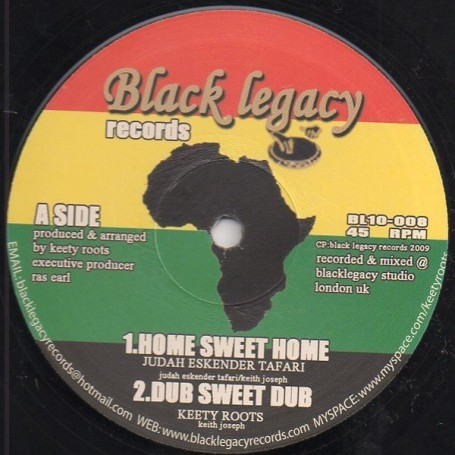 "(10"") JUDAH ESKENDER TAFARI - HOME SWEET HOME / KEETY ROOTS - NO PLACE LIKE HOME"