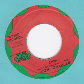 """(7"""") HIGH CHARLES - ZION /  SOUND DIMENSION - ZION LION"""