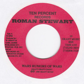 "(7"") ROMAN STEWART - WARS RUMORS OF WARS / MILLENNIUMANIA"