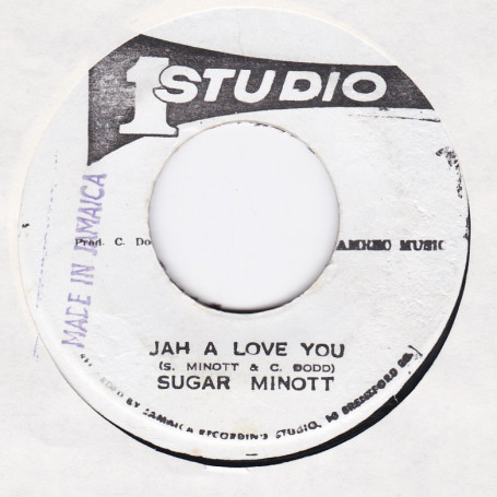 "(7"") SUGAR MINOTT - JAH A LOVE YOU / SUGAR & BRENTFORD DISCO SET - JAH JAH VERSION"