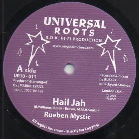 """(10"""") RUEBEN MYSTIC - HAIL JAH / HAIL DUB"""