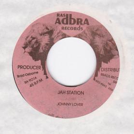 """(7"""") JOHNNY LOVER - JAH STATION / BRAD ALLSTARS - JAH DUB"""