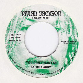 """(7"""") PATRICK ANDY - YOU DON'T WANT ME / VERSION"""