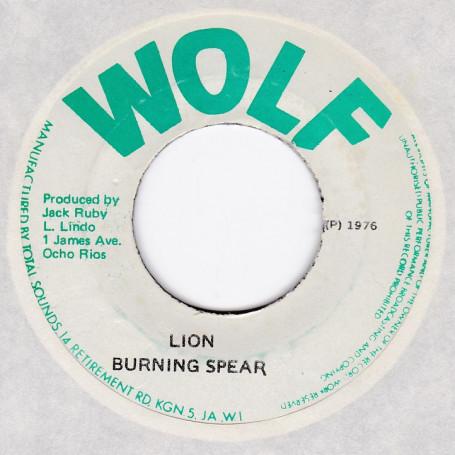 """(7"""") BURNING SPEAR - LION / THE BLACK DISCIPLES - LION PART 2"""