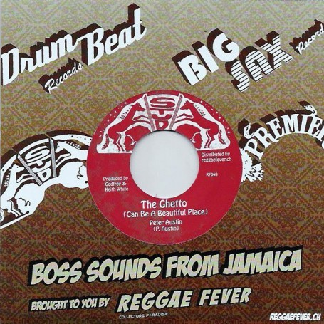 "(7"") PETER AUSTIN - THE GHETTO (Can be a beautiful place) / GHETTO DUB"