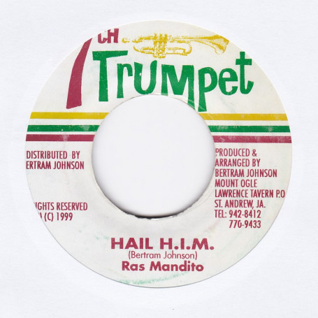 "(7"") RAS MANDITO - HAIL HIM / KING'S VERSION"