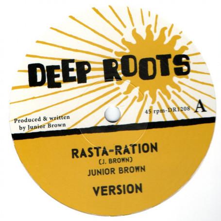 """(12"""") JUNIOR BROWN - RASTA RATION / KEEP A CLEAN HEART"""
