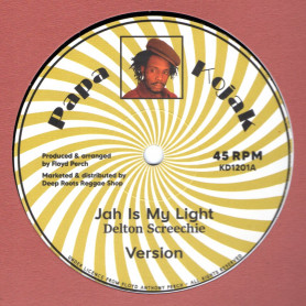 """(12"""") DELTON SCREECHIE - JAH IS MY LIGHT / ROD TAYLOR - NIGHT IN SEPTEMBER"""