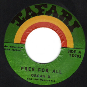 """(7"""") ORGAN D & THE UPSETTERS - FREE FOR ALL / FAMILY MAN - RED UP PALUKA"""