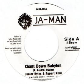 "(7"") JUNIOR BYLES & RUPERT REID - CHANT DOWN BABYLON / JA-MAN ALL STARS - VERSION"