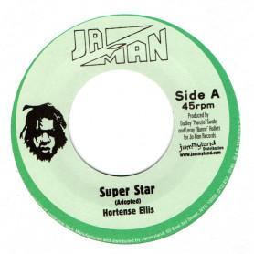 "(7"") HORTENSE ELLIS - SUPER STAR / JA-MAN ALL STARS - SUPER DUB"