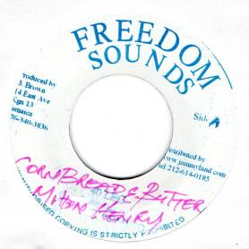 """(7"""") MILTON HENRY - CORN BREAD & BUTTER / KING TUBBY - CORN BREAD DUB"""