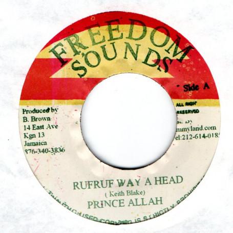 """(7"""") PRINCE ALLA - RUFRUF WAY A HEAD / RUFRUF DUB"""