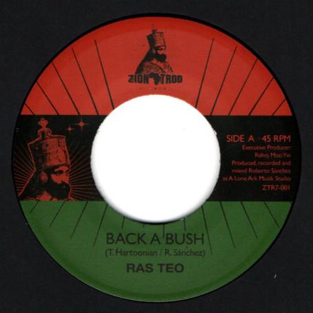 "(7"") RAS TEO - BACK A BUSH / LONE ARK RIDDIM FORCE - BACK A DUB"