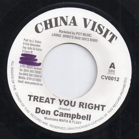 "(7"") DON CAMPBELL - TREAT YOU RIGHT / VERSION"
